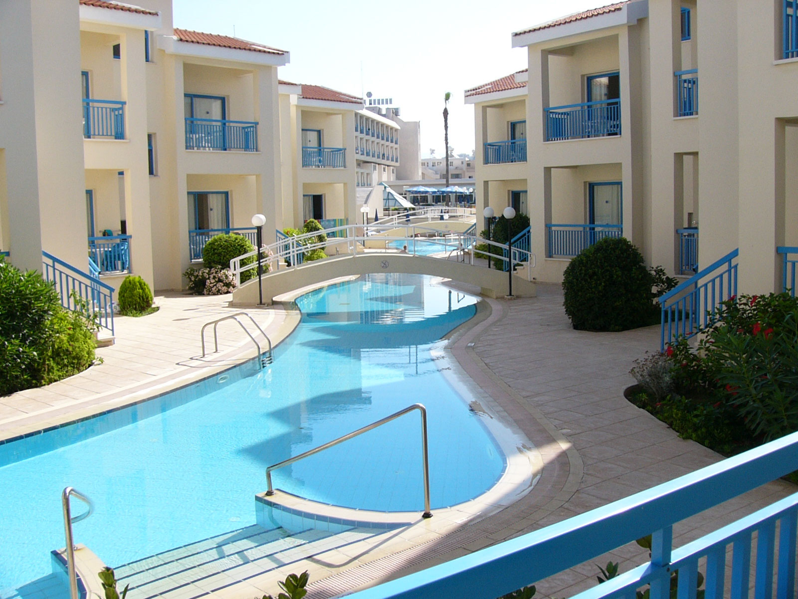 Kissos Hotel Paphos Cyprus Lazy River Lagoon Swimming Pool