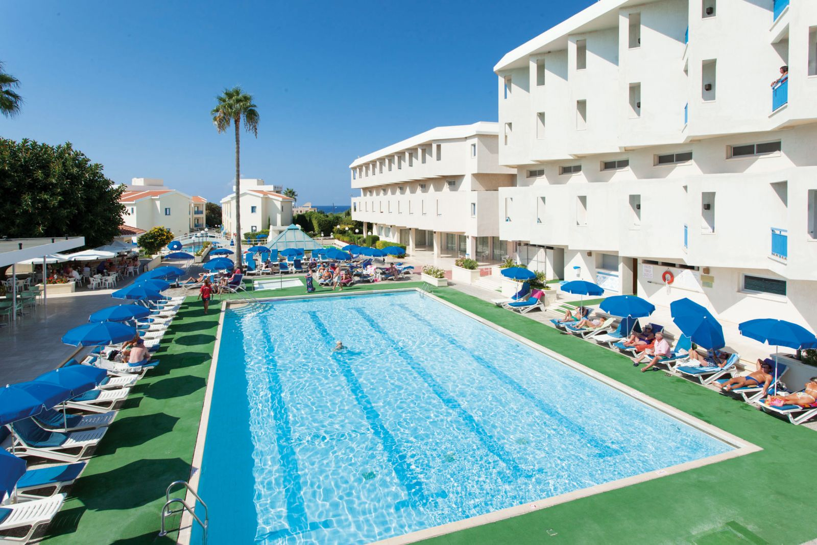 Kissos Hotel Paphos Has Indoor And Outdoor Swimming Pools